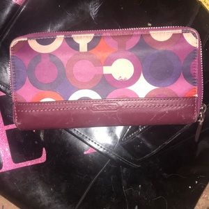 Authentic COACH full zip around wallet